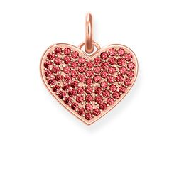 """pendant """"Heart Red Pavé"""" from the Love Bridge collection in the THOMAS SABO online store"""