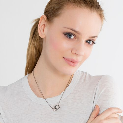"necklace ""skull pavé"" from the Rebel at heart collection in the THOMAS SABO online store"