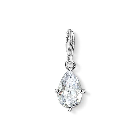 charm pendant white stone droplet from the Charm Club collection in the THOMAS SABO online store