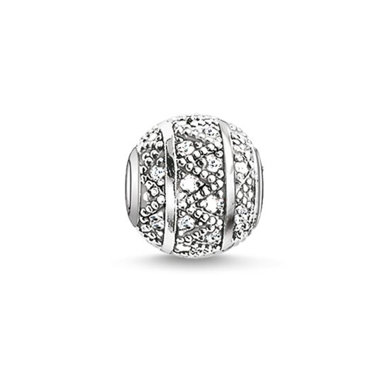 "Bead ""white zig zag"" from the Karma Beads collection in the THOMAS SABO online store"