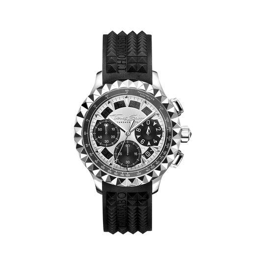 Herrenuhr Rebel at Heart Chronograph silber schwarz aus der  Kollektion im Online Shop von THOMAS SABO