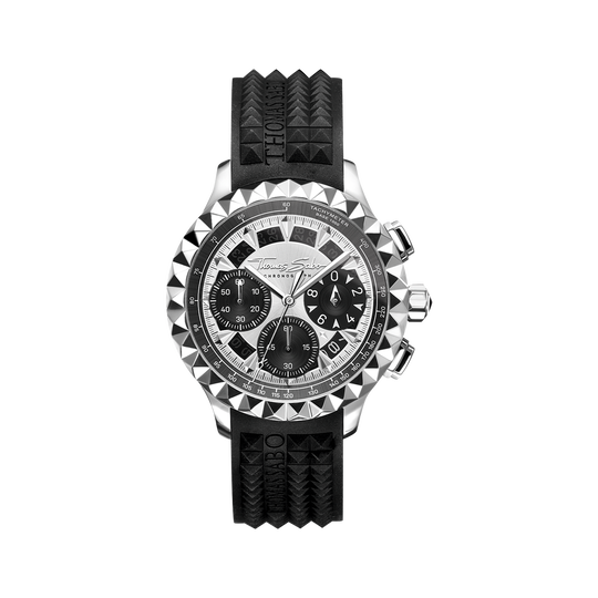 Herrenuhr Rebel at Heart Chronograph silber schwarz aus der Rebel at heart Kollektion im Online Shop von THOMAS SABO