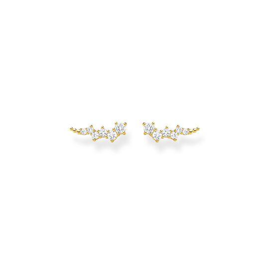 Boucles d'oreilles grimpante blanche pierres or de la collection Charming Collection dans la boutique en ligne de THOMAS SABO