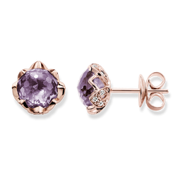 """ear studs """"purple lotus flower"""" from the Glam & Soul collection in the THOMAS SABO online store"""
