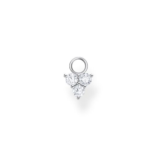 Single ear pendant white stones, silver from the Charming Collection collection in the THOMAS SABO online store