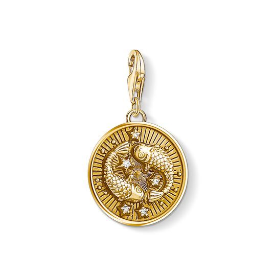Charm pendant zodiac sign Pisces from the Charm Club collection in the THOMAS SABO online store