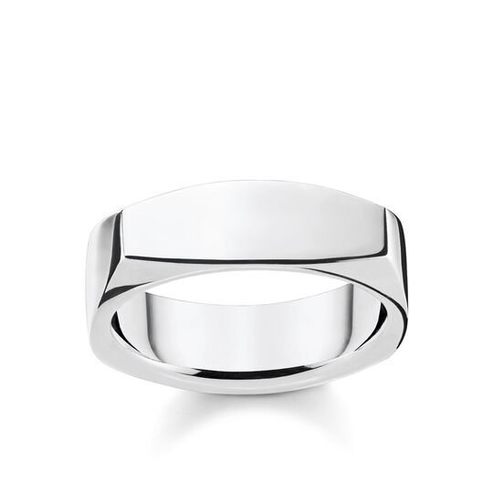 Ring Eckig silber aus der Rebel at heart Kollektion im Online Shop von THOMAS SABO