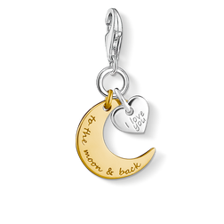Charm pendant I LOVE YOU TO THE MOON from the Charm Club Collection collection in the THOMAS SABO online store