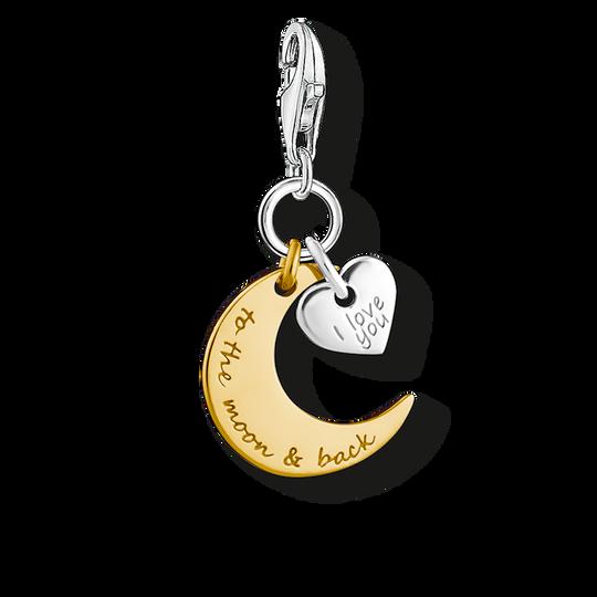 Charm-Anhänger Mond & Herz I LOVE YOU TO THE MOON & BACK aus der Charm Club Kollektion im Online Shop von THOMAS SABO