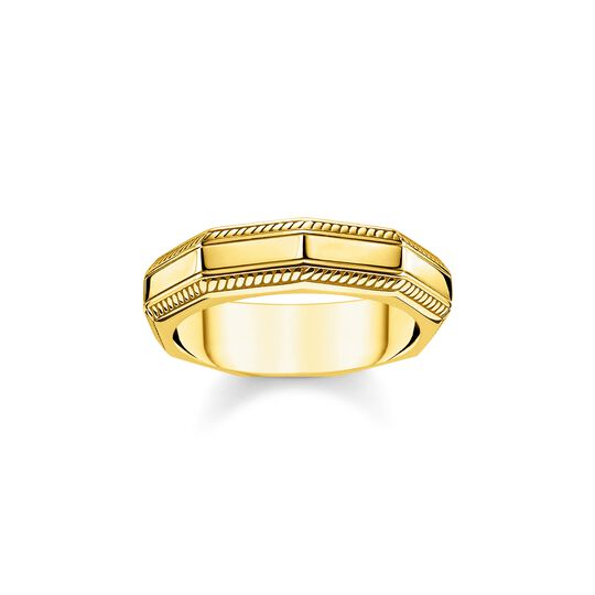 Ring Eckig gold aus der  Kollektion im Online Shop von THOMAS SABO
