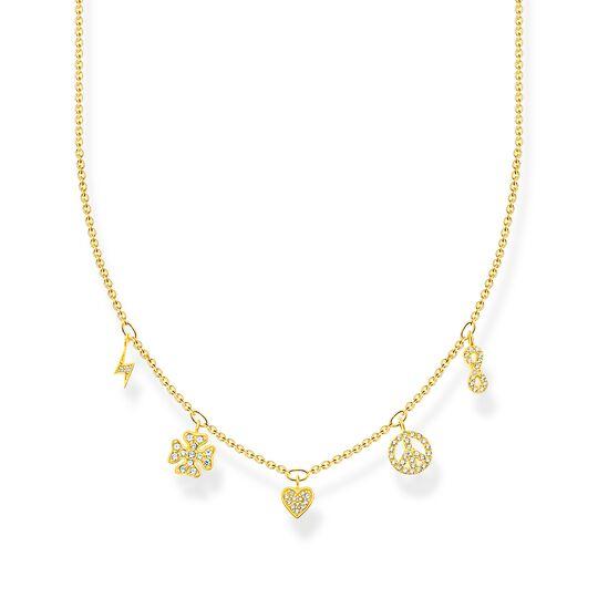 Halsband med symboler guld ur kollektionen Charming Collection i THOMAS SABO:s onlineshop
