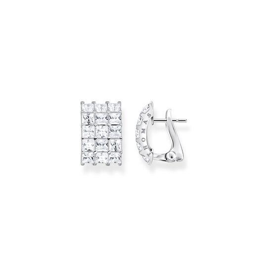 Ohrclip weiße Steine Pavé silber aus der  Kollektion im Online Shop von THOMAS SABO