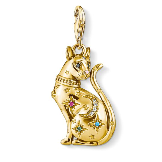 charm pendant cat constellation gold from the Charm Club collection in the THOMAS SABO online store