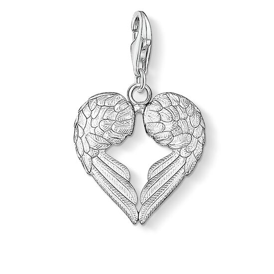 Charm pendant winged heart 0613 charm club thomas sabo charm pendant quotwinged heartquot from the collection in the thomas sabo mozeypictures Choice Image