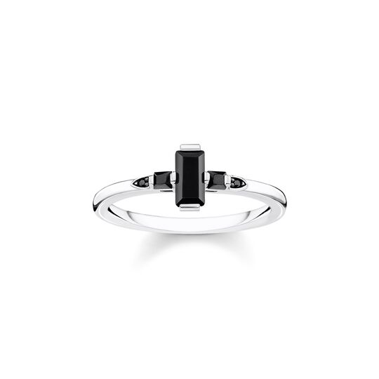 ring Stone baguette cut, black from the  collection in the THOMAS SABO online store