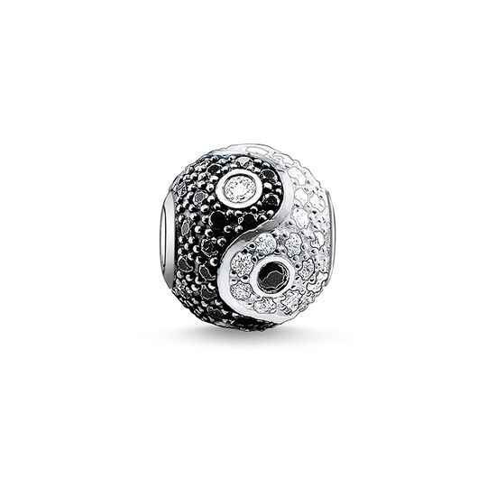 "Bead ""yin & yang pavé"" from the Karma Beads collection in the THOMAS SABO online store"