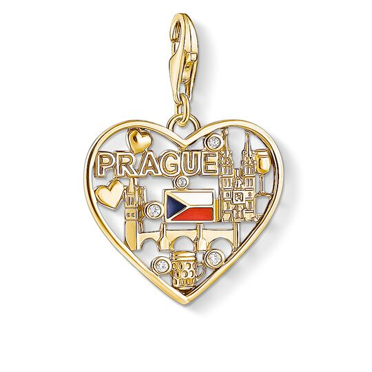 Charm-Anhänger We love Prague gold  aus der Charm Club Kollektion im Online Shop von THOMAS SABO