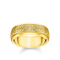 ring Ornaments, gold from the Rebel at heart collection in the THOMAS SABO online store