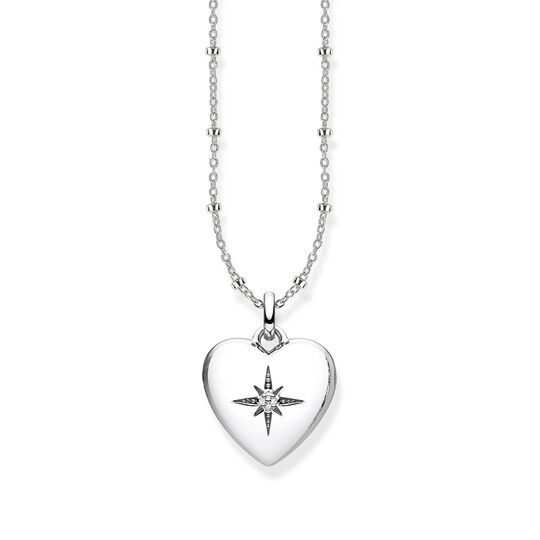 "necklace ""heart locket silver"" from the Glam & Soul collection in the THOMAS SABO online store"