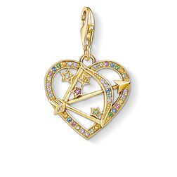 Charm pendant Cupid's Arrow, gold from the Charm Club Collection collection in the THOMAS SABO online store