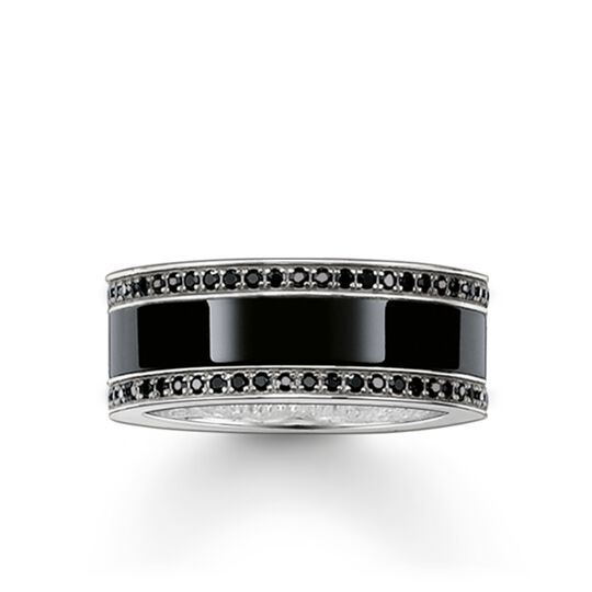 band ring black ceramic pavé from the Glam & Soul collection in the THOMAS SABO online store