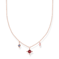necklace Lucky symbols, rose-coloured from the Glam & Soul collection in the THOMAS SABO online store