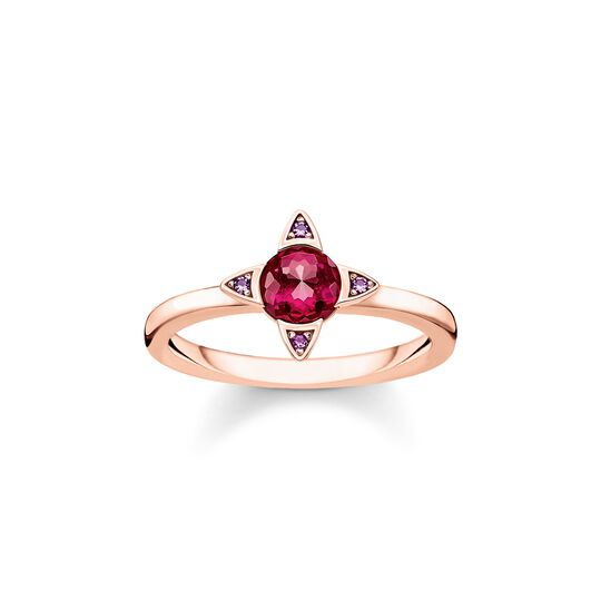 ring Colourful stones, rose-coloured from the  collection in the THOMAS SABO online store