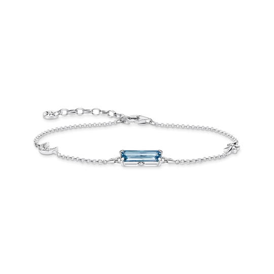 bracelet blue stone with  moon & star from the Glam & Soul collection in the THOMAS SABO online store
