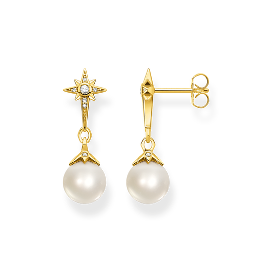 Earrings pearl star gold from the Glam & Soul collection in the THOMAS SABO online store