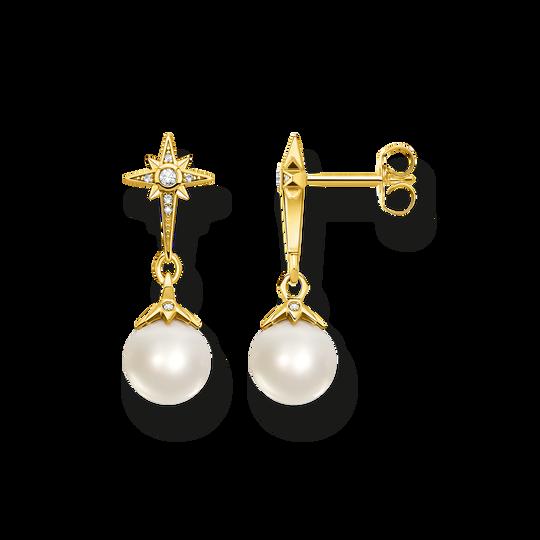 Ohrringe Perle mit Stern gold aus der Glam & Soul Kollektion im Online Shop von THOMAS SABO