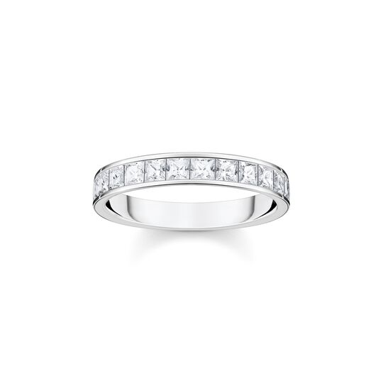 Ring white stones pavé silver from the  collection in the THOMAS SABO online store
