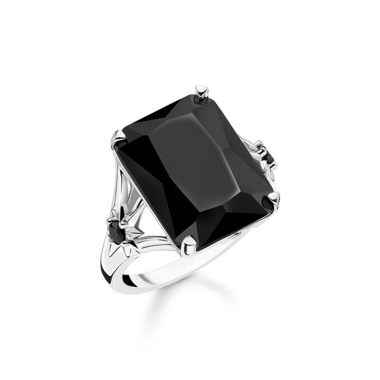 ring Black stone, large, with star from the  collection in the THOMAS SABO online store