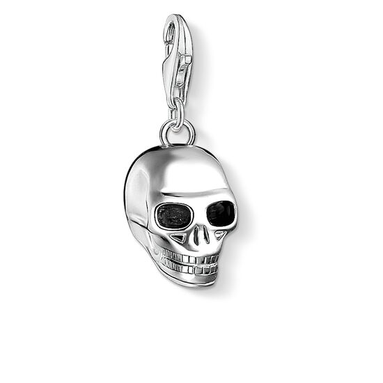 Charm pendant skull silver 1548 charm club thomas sabo charm pendant quotskull silverquot from the collection in the thomas sabo mozeypictures Image collections