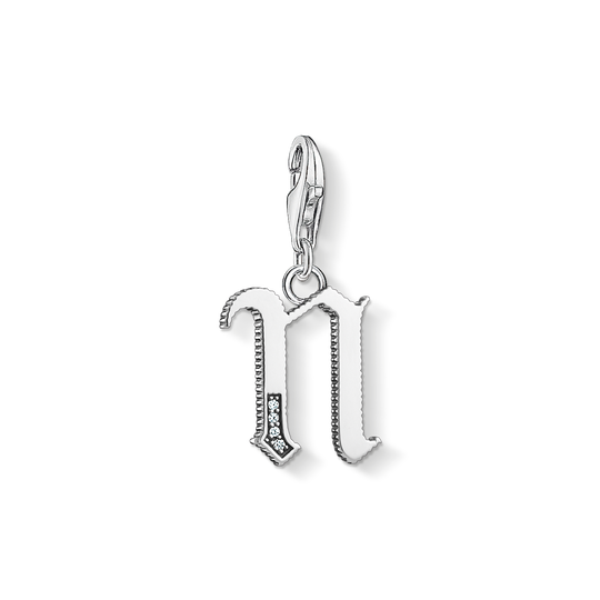 Charm pendant letter N silver from the Charm Club collection in the THOMAS SABO online store