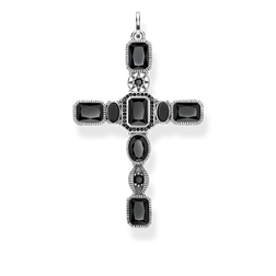 pendant Cross black stones from the Glam & Soul collection in the THOMAS SABO online store