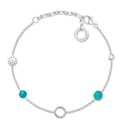 "Charm bracelet ""turquoise Stones"" from the  collection in the THOMAS SABO online store"