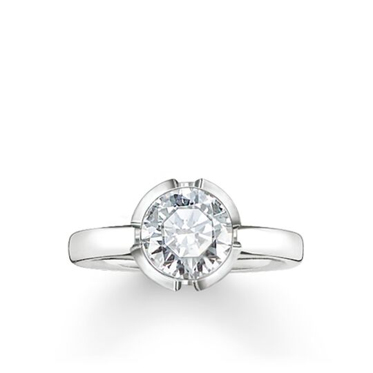 "solitaire ring ""Signature Line white small"" from the Glam & Soul collection in the THOMAS SABO online store"