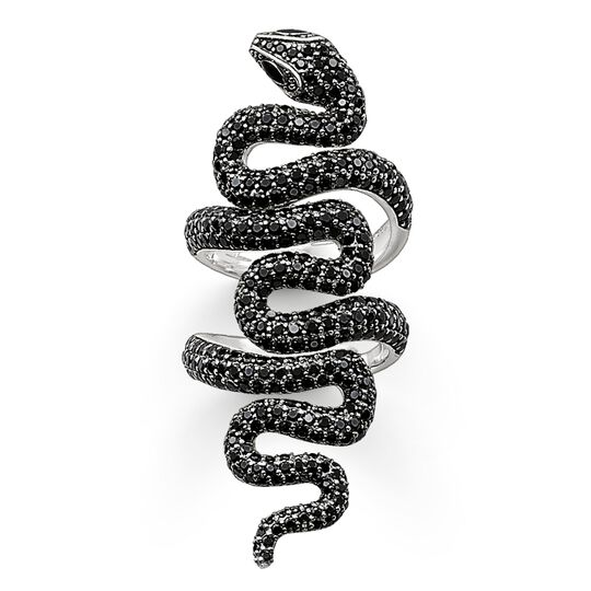 "ring ""black snake pavé"" from the Glam & Soul collection in the THOMAS SABO online store"