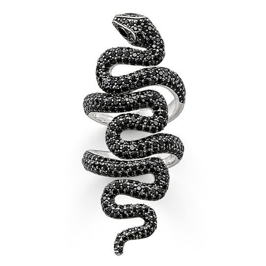 anillo serpiente de pavé negro de la colección Glam & Soul en la tienda online de THOMAS SABO