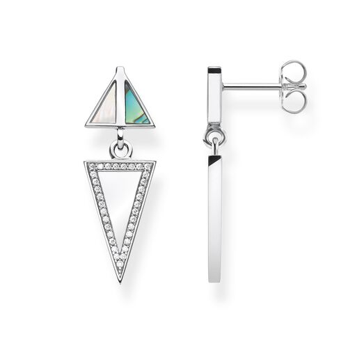 "earrings ""Triangle "" from the Glam & Soul collection in the THOMAS SABO online store"