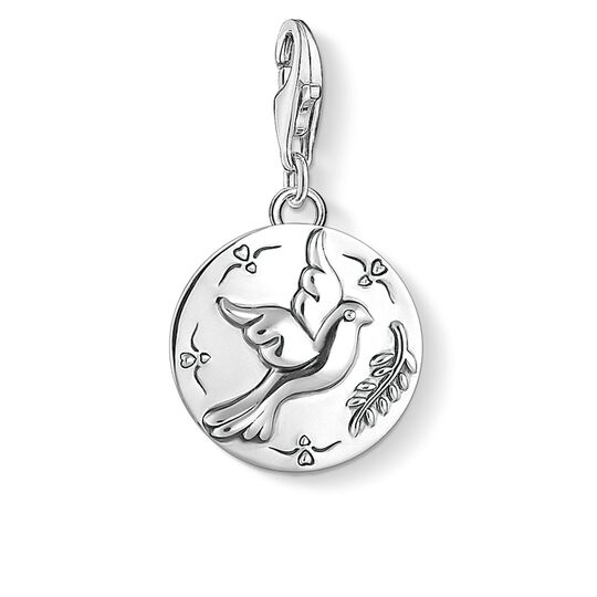 Charm pendant disc dove from the  collection in the THOMAS SABO online store