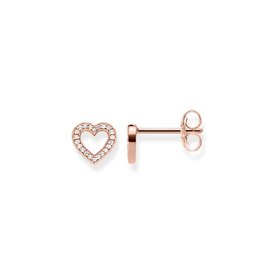 ear studs hearts large from the  collection in the THOMAS SABO online store