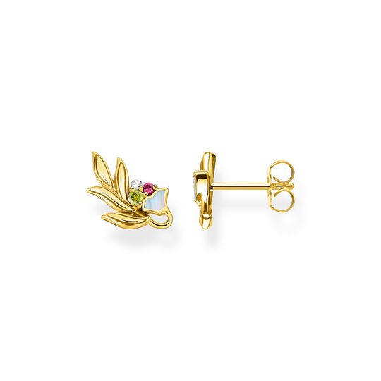 Ear studs flower gold from the  collection in the THOMAS SABO online store