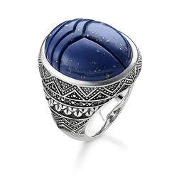 "ring ""blue scarab "" from the Rebel at heart collection in the THOMAS SABO online store"