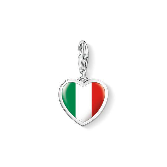 Charm pendant Italy flag heart from the Charm Club collection in the THOMAS SABO online store