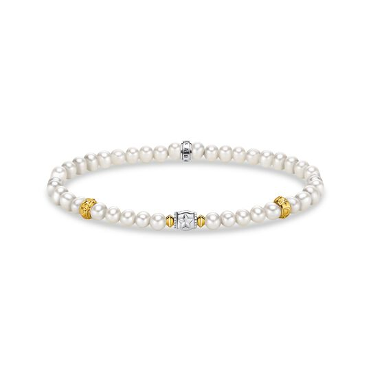Bracelet beige pearls with crescent moon silver from the Glam & Soul collection in the THOMAS SABO online store