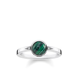 "ring ""green stone"" from the Glam & Soul collection in the THOMAS SABO online store"