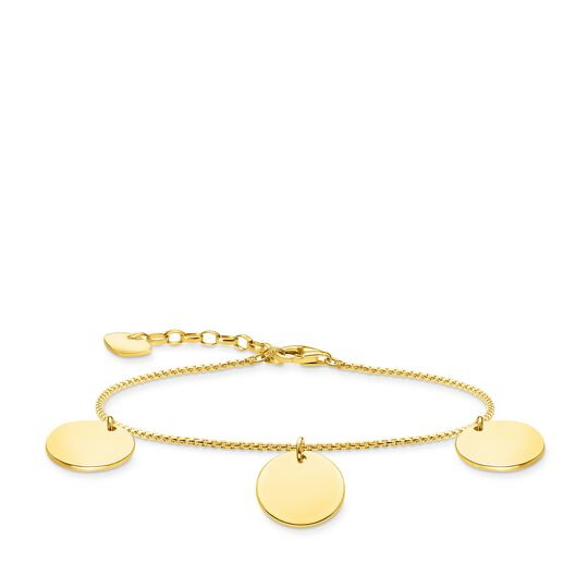 Bracelet with three discs gold from the Glam & Soul collection in the THOMAS SABO online store