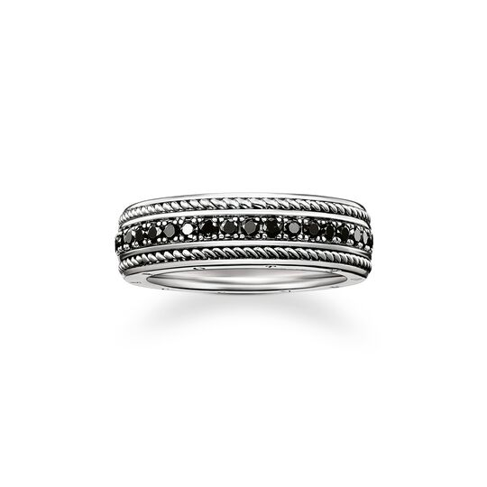 ring eternity black diamond from the Rebel at heart collection in the THOMAS SABO online store