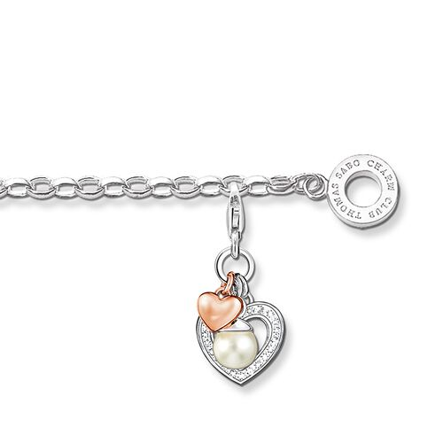 "Charm bracelet ""heart"" from the  collection in the THOMAS SABO online store"